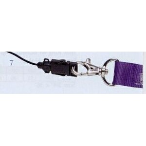 "Lanyard w/ Swivel Lobster Claw & Detachable Cell Phone Loop #1 (3/4""x36"")"