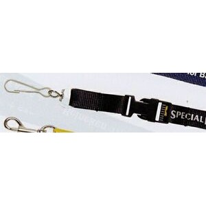 "Lanyard w/ Large Swivel J-Hook & Snap Buckle (3/4""x42"")"